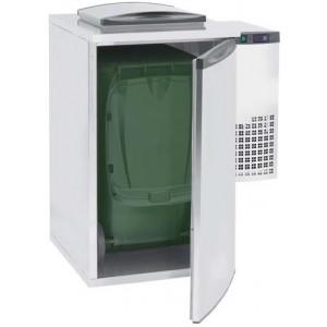 Refrigerador para el almacenamiento de residuos orgánicos, compuesto por paneles modulares y diseñado para garantizar las mejores condiciones sanitarias y evitar la multiplicación bacteriológica.